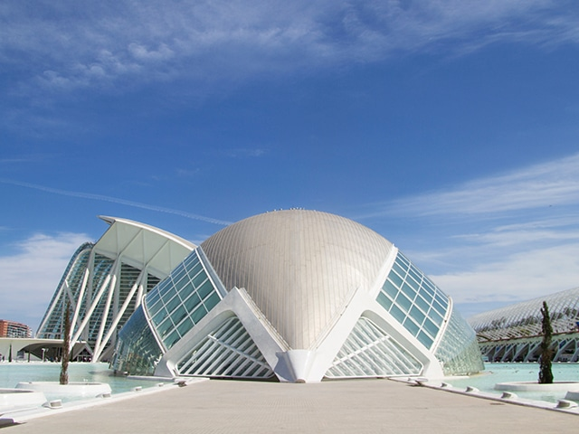 Santiago Calatrava - City of Arts and Sciences  in Valencia