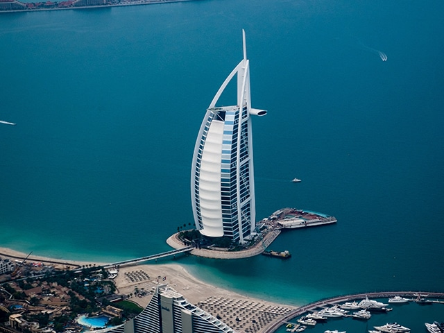 The Burj Al Arab , luxury hotel in Dubai.