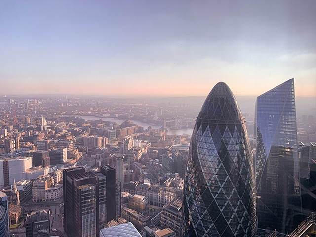 30 St Mary Axe  tower in city centre of London.