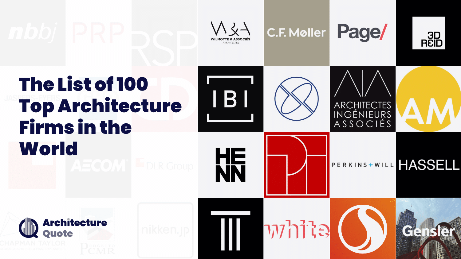 100 Best Architecture Firms in the World [2020 Update]