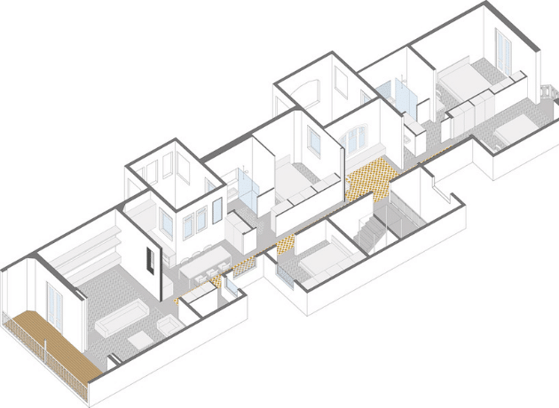 Axonometric View for Casa Sophie by A-53