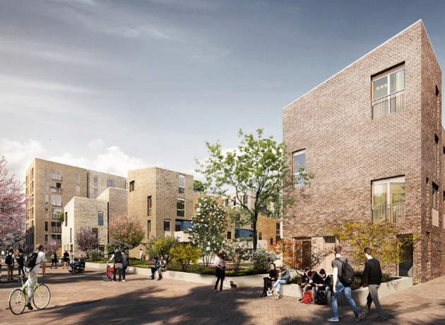 Render Outside for Fountainbridge by Oberlanders Architect