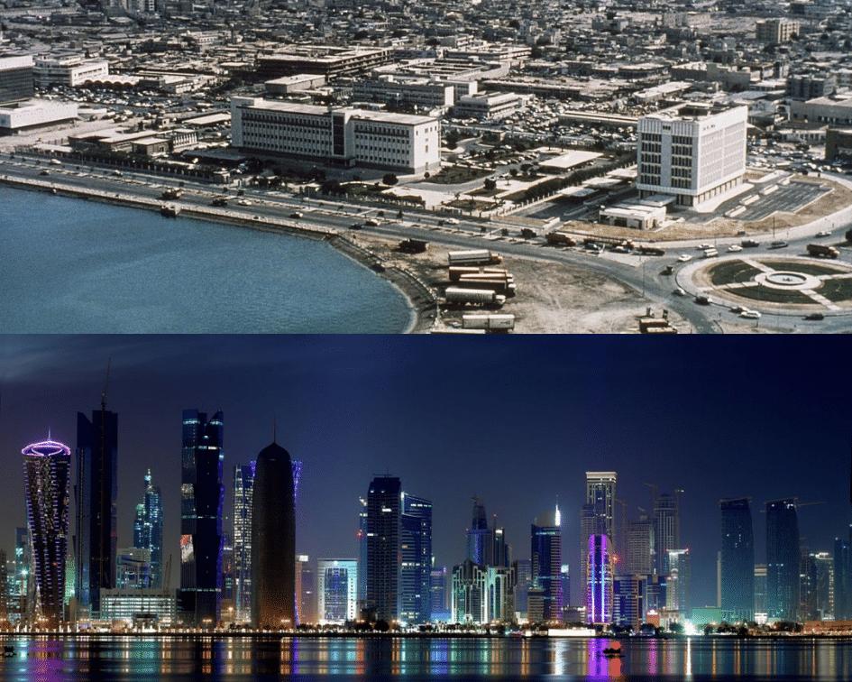 Doha Skyline Before and After, Doha, Qatar