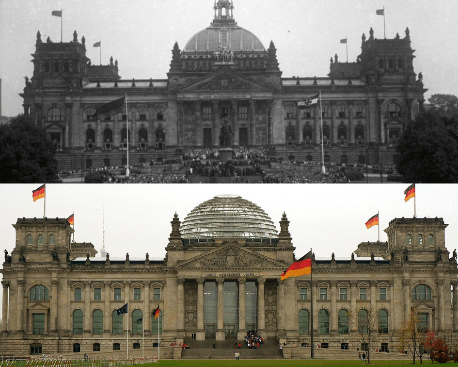 Berlin Parliament Before and After, Berlin, Germany
