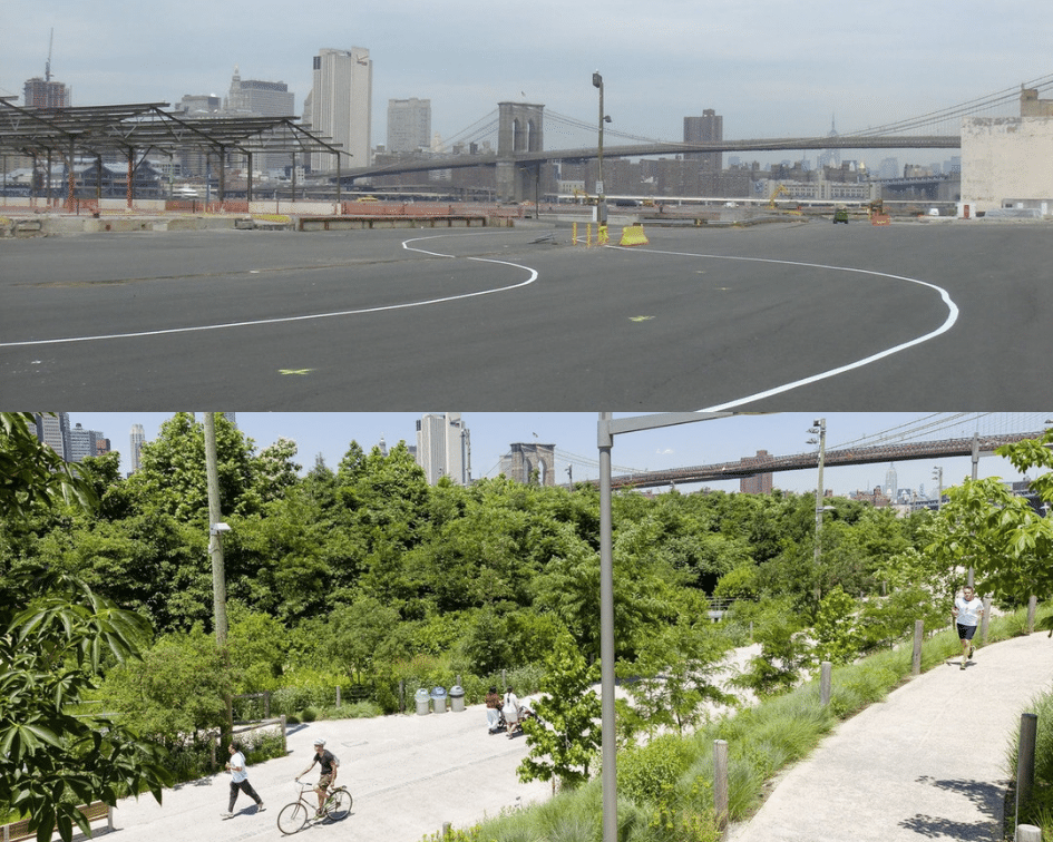 Brooklyn Bridge Park Before and After, Brooklyn, New York
