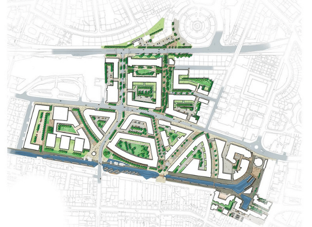 Masterplan for Fountainbridge by Oberlanders Architect