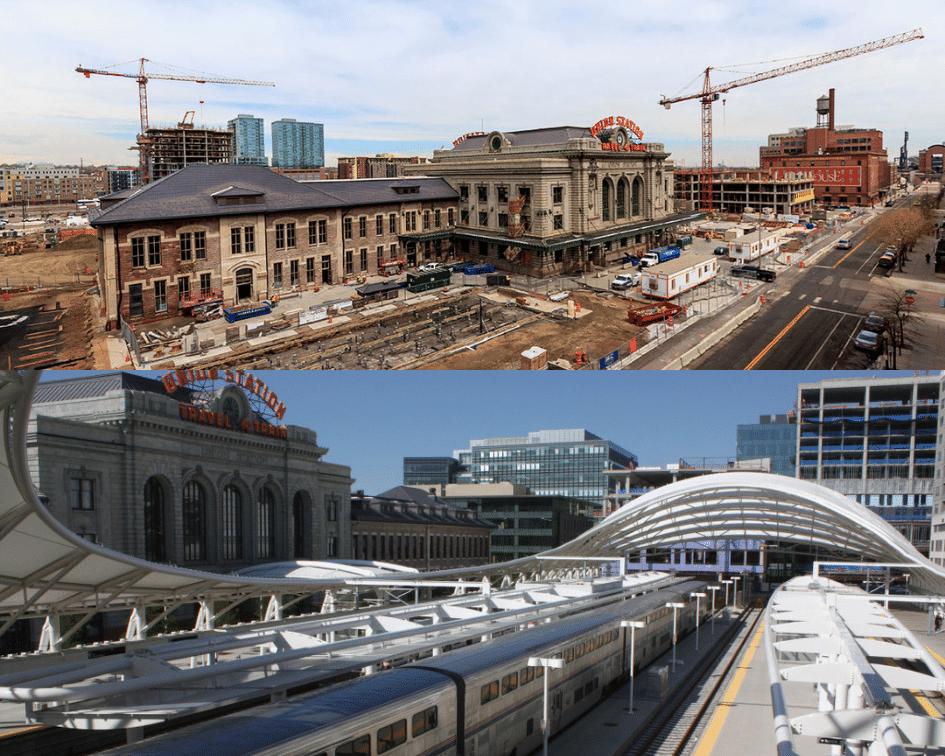 Denver Union Station Before and After, Denver, Colorado
