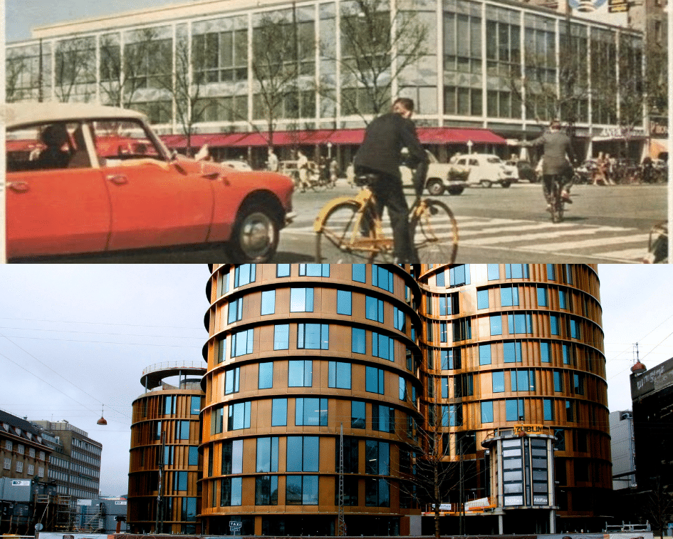 Axel Tower Before and After, Copenhagen, Denmark