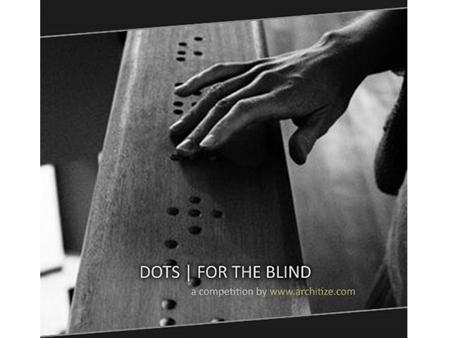Dots for the blind