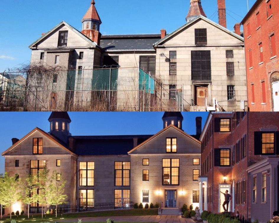 Salem Jail Before and After, Salem, Massachusetts