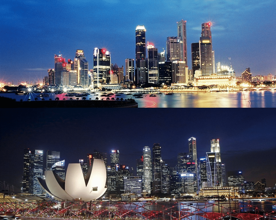 Singapore Skyline, Before and After, Singapore, Singapore