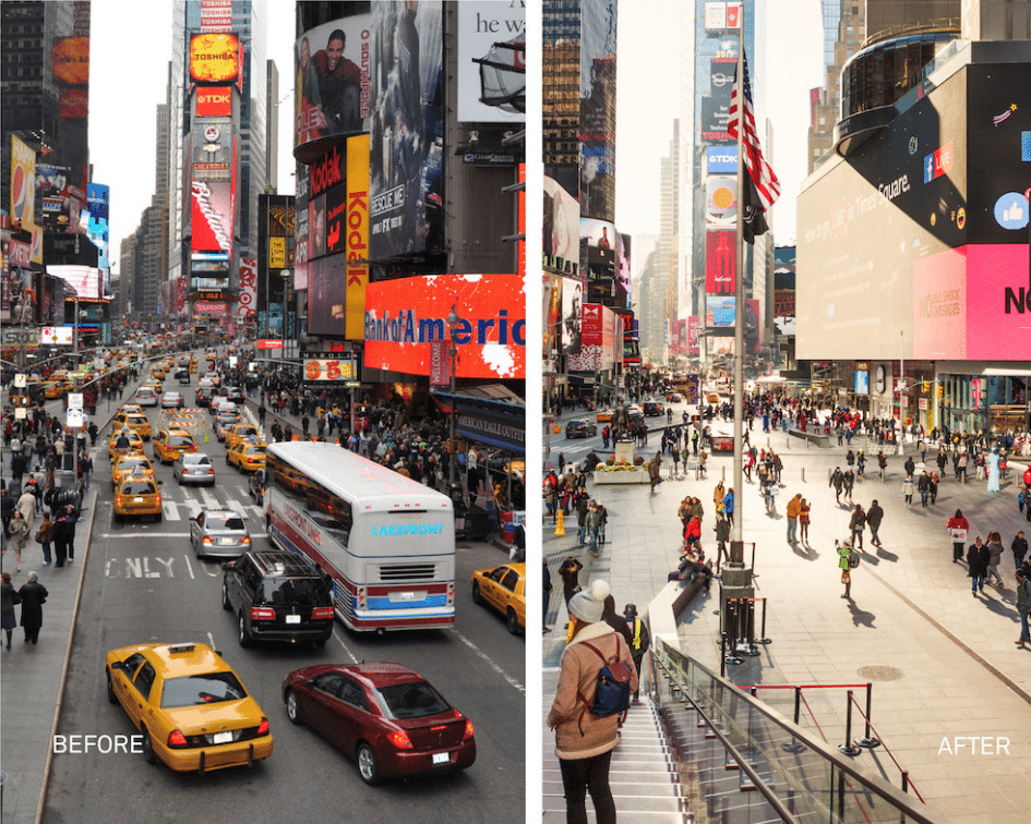 Times Square Before and After, Manhattan, New York
