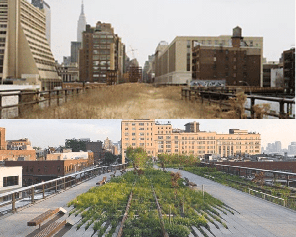 High Line Park Before and After, New York, New York
