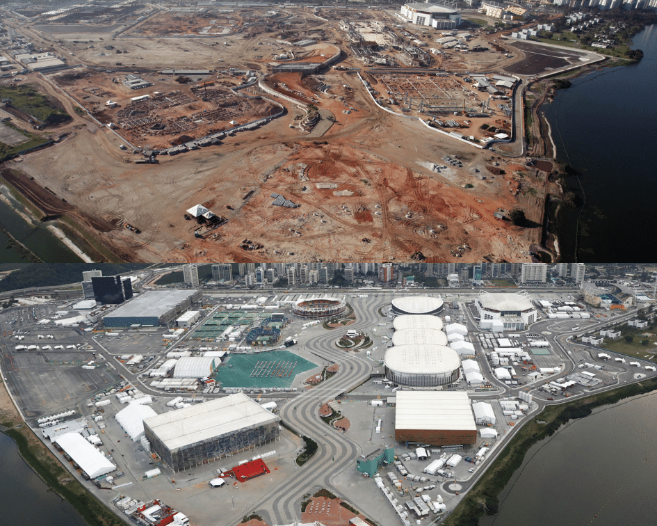 Olympic Park Before and After, Rio de Janeiro, Brasil