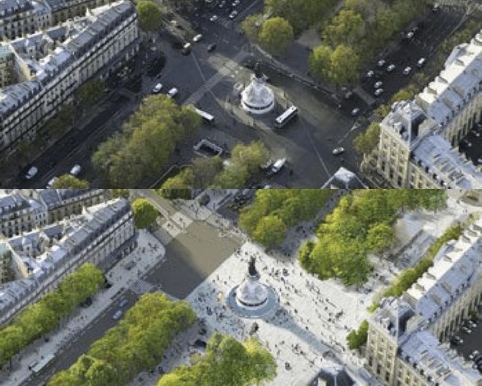Place de la République Before and After, Paris, France