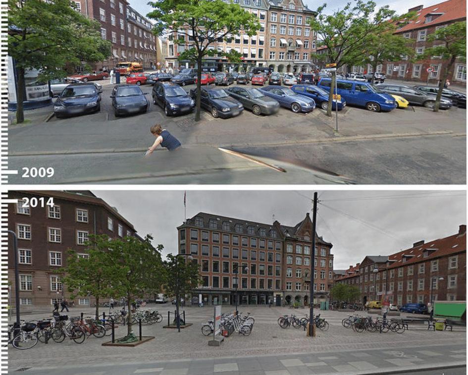 Regnbuepladsen Before and After, Copenhagen, Denmark