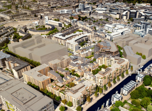 Render of Surrounding for Fountainbridge by Oberlanders Architect