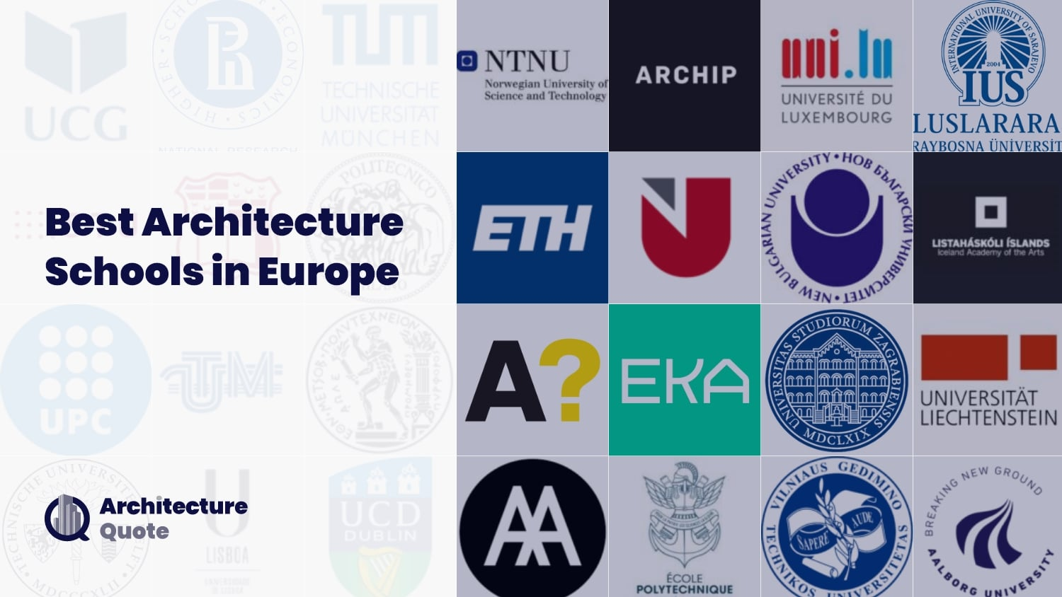 Best Architecture schools in Europe