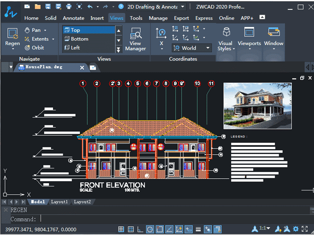 zwcad architecture software