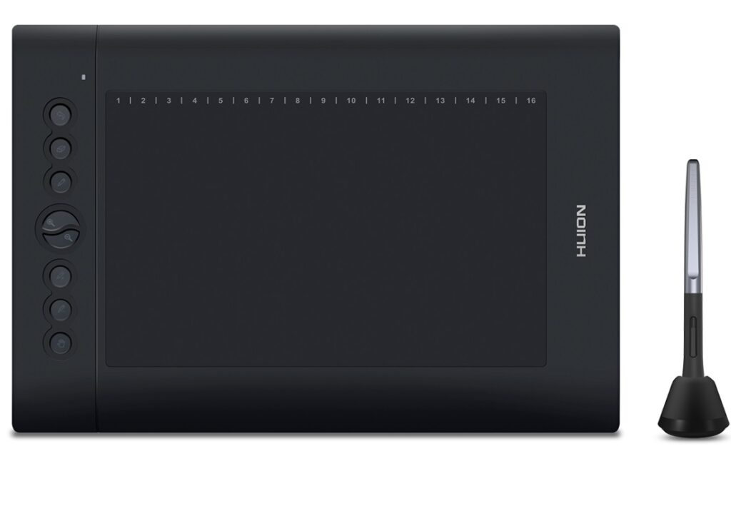 Black screen Graphic tablet with pen