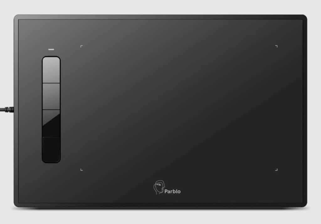 Parblo Island A609 black screen tablet for architects