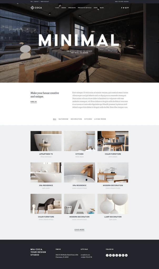 Coca Architecture Portfolio Layout