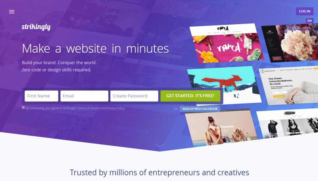 Strikingly Website