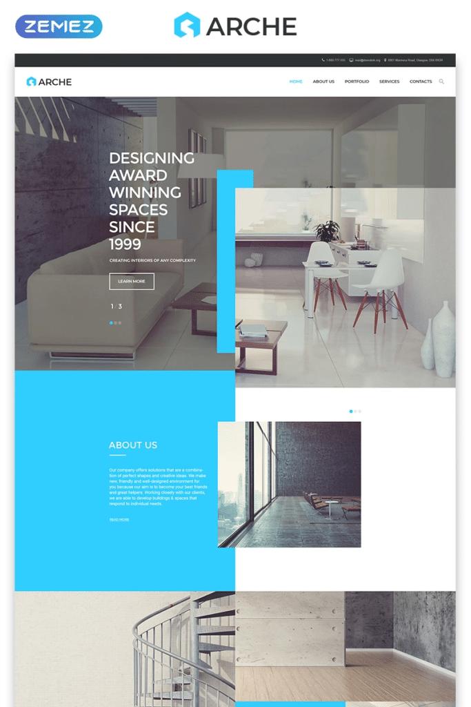 Arche architecture portfolio layout
