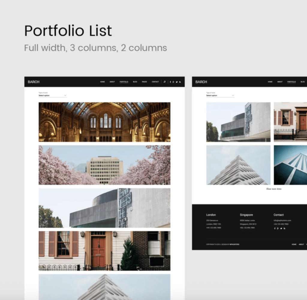 Barch architecture portfolio layout