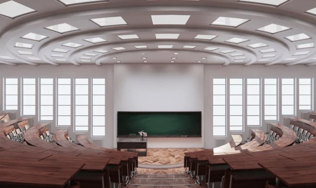 inside auditorium