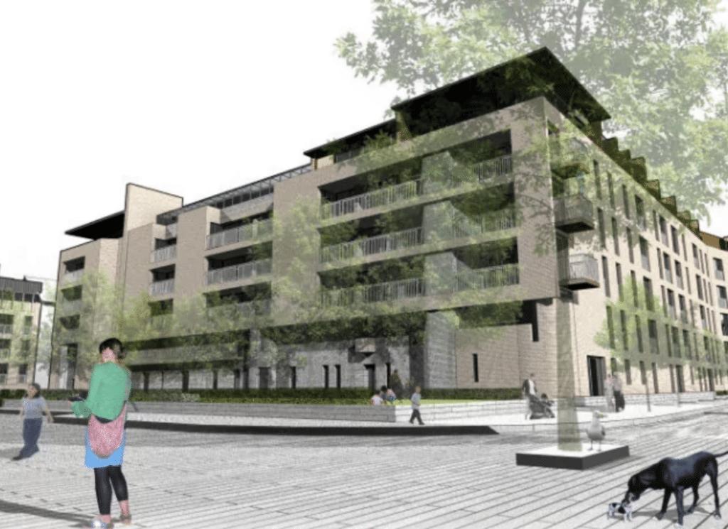 green facade visual