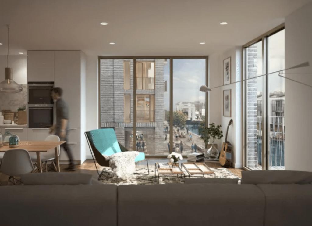 modern apartament render example
