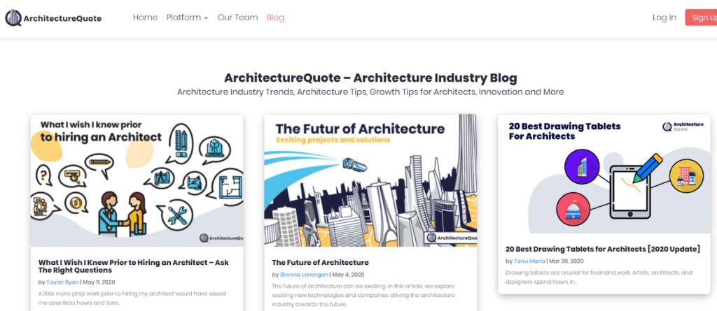 Architecture Industry Blog
