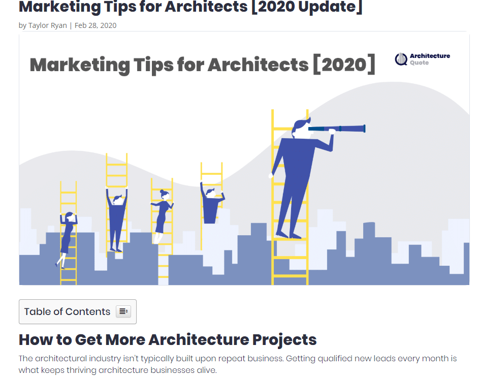 blog pot by architecture quote on architecture firm marketing