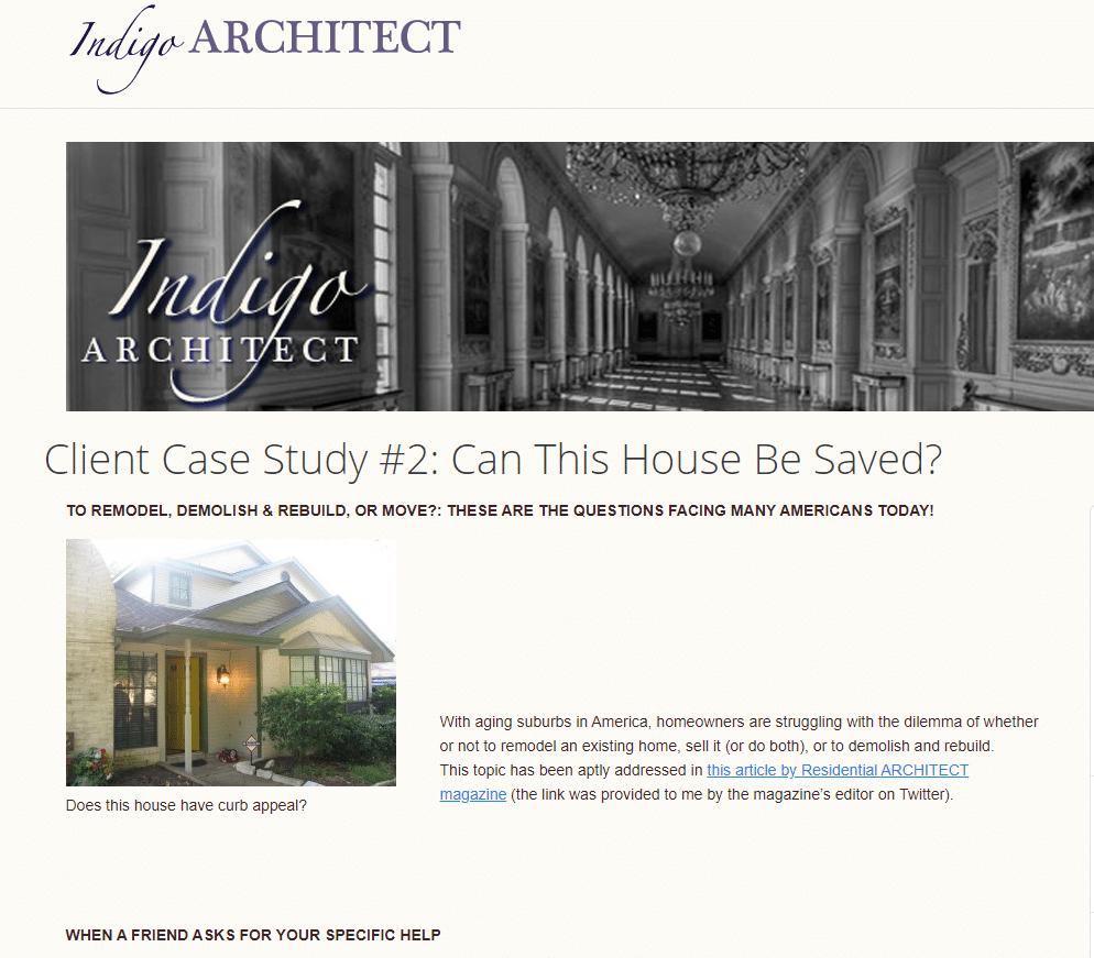 architecture website case study