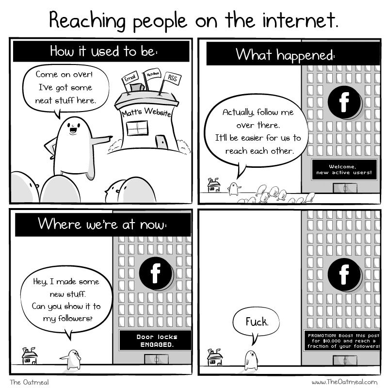 reaching people on facebook cartoon