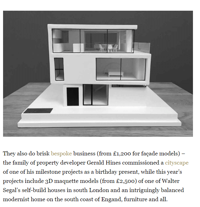 Picture of architecture model