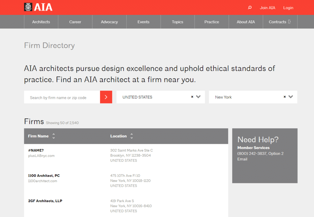 AIA firm architect firm directory