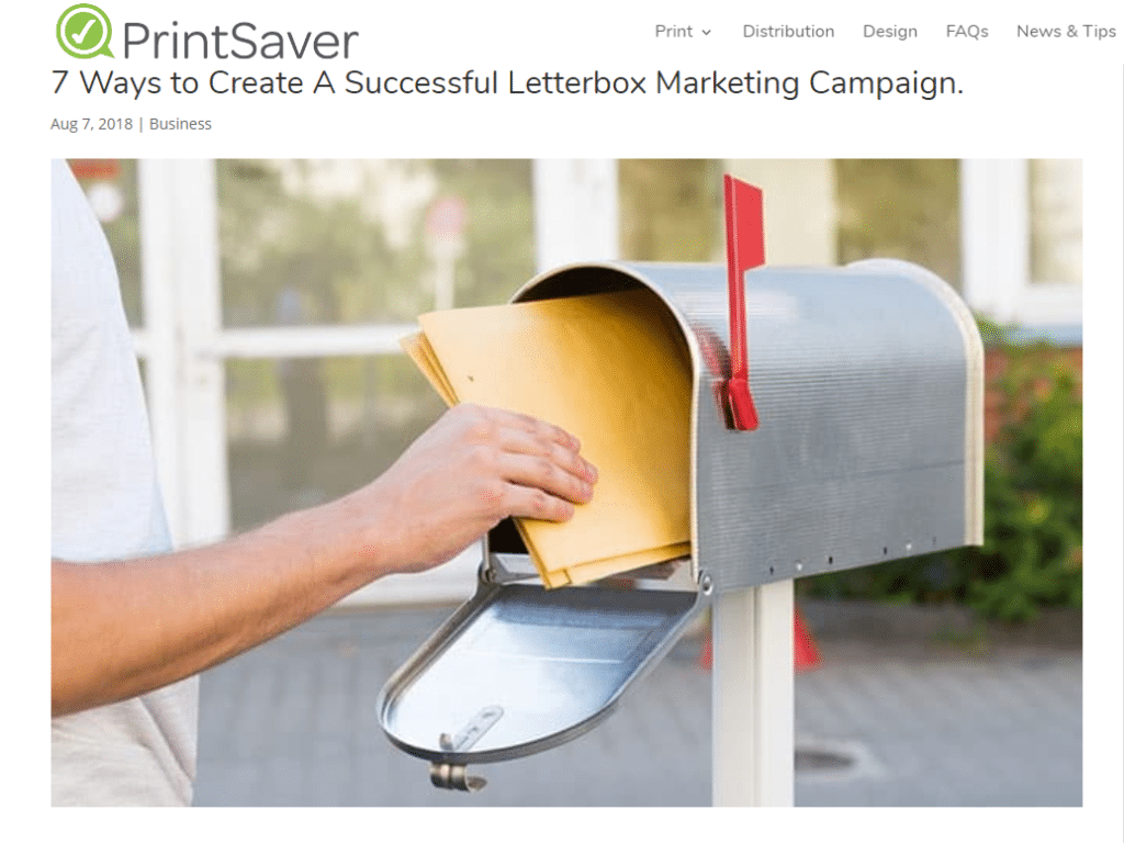 Mailman putting mail into letterbox