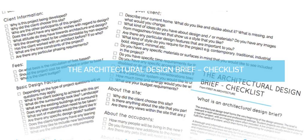 Architecture design briefs