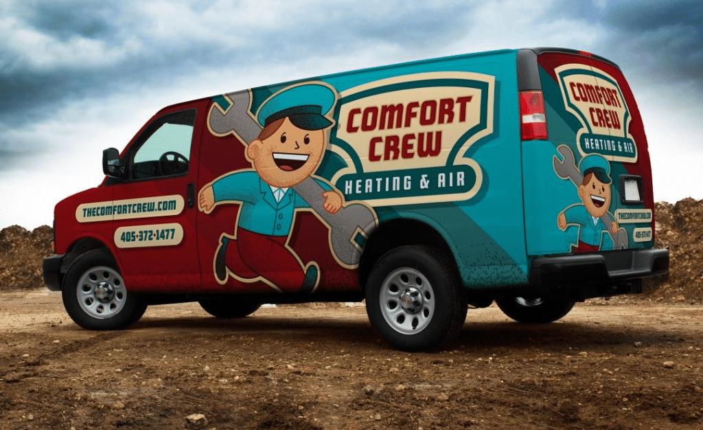 work truck as billboard