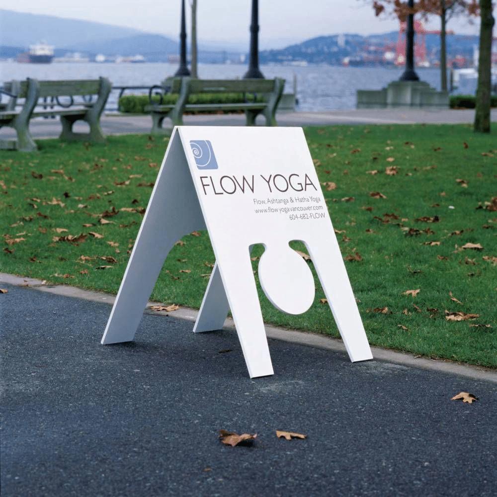 creative outdoor advertising yoga