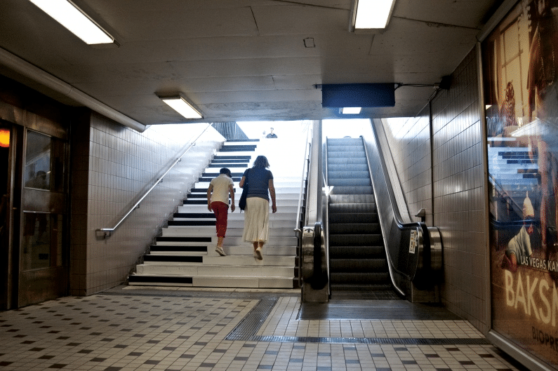 music stairs in Stockholm